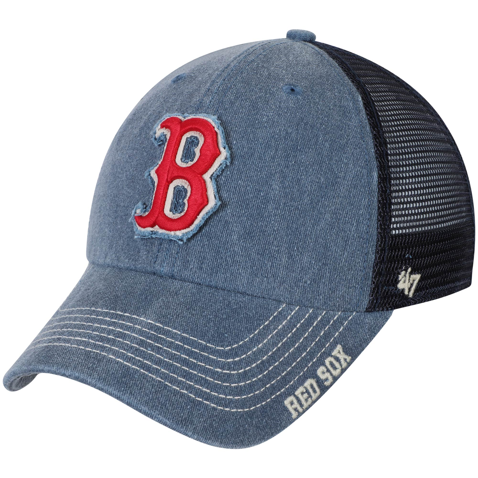 Boston Red Sox '47 Burnstead Clean Up Trucker Adjustable Hat - Navy - OSFA