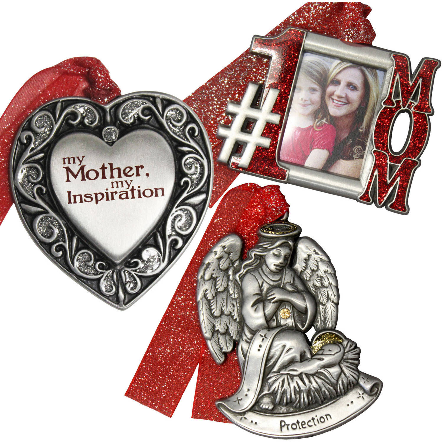 Personalized Gloria Duchin Mother's Christmas Ornament 3-Piece Set
