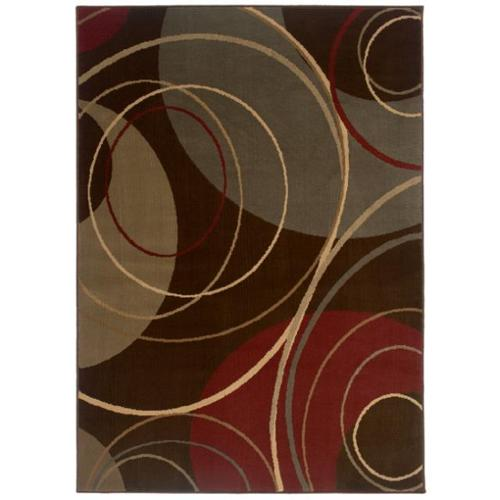 Style Haven Indoor Brown Abstract Area Rug (5' x 7'6)