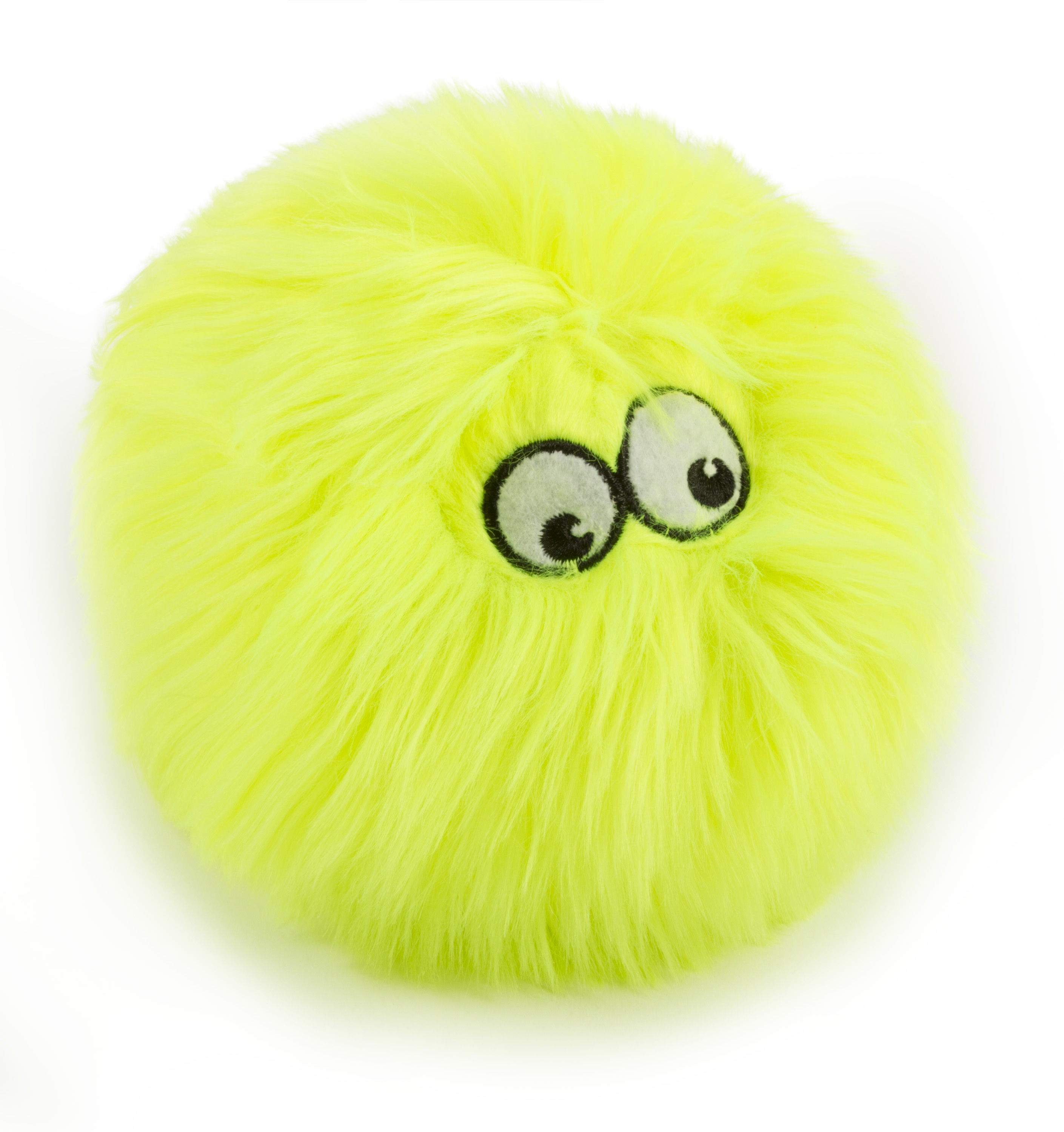 goDog® Furballz™ with Chew Guard Technology™ Plush Squeaker Dog Toy, Small, Lime