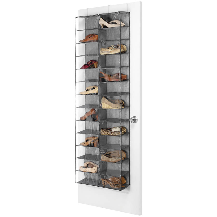 "Whitmor 6283-4457 6"" x 22"" x 63"" Gray Over The Door Shoe Shelves"
