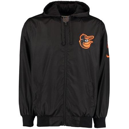 Baltimore Orioles JH Design Nylon Mesh Lined Hooded Jacket - Black Baseball Mesh Vest