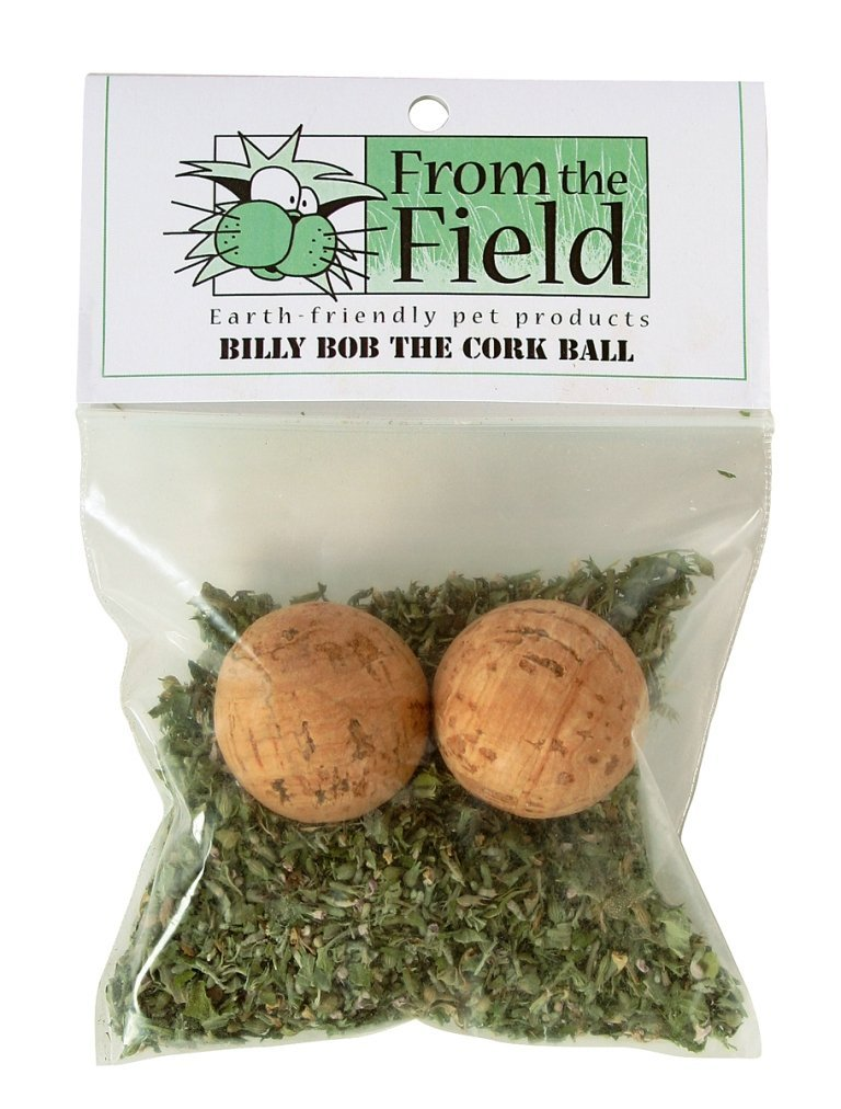 Billy Bob The Cork Ball Catnip Toy, Made in USA By From The Field by