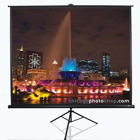 Elite Screens Tripod Series White Portable Projection - Elite Screens Tripod Projection Screen