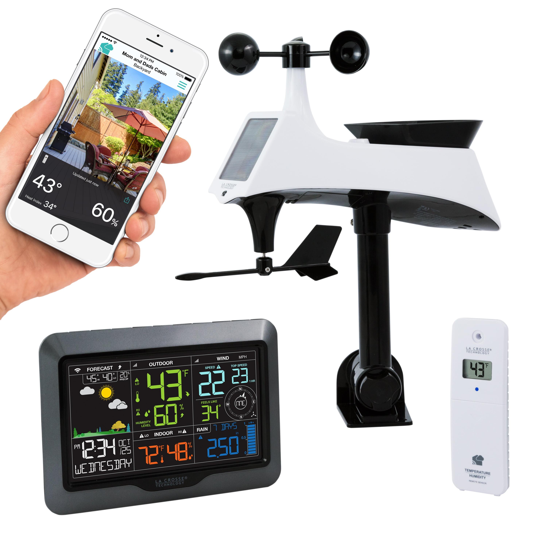 La Crosse Technology V40-PRO Color Wireless WIFI Professional Weather Station