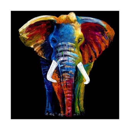 Great Elephant Print Wall Art By Clara Summer