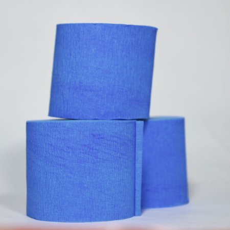 Quasimoon Dark Blue Crepe Paper Streamer Party Decorations (195FT Total, 3 Pack) by PaperLanternStore](Streamers Party)