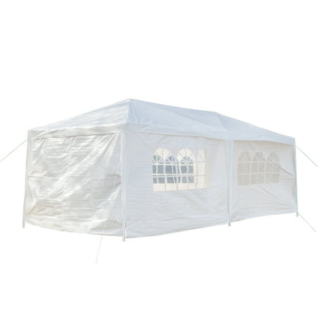 pabby yard 10' x 20' Tents and Canopies Outdoor Tents and Canopy, White 6 Sides Portable Waterproof Tent with Spiral Tubes Canopy Tents for Outside Party Waterproof Canopy Wedding Tent BBQ Shelter