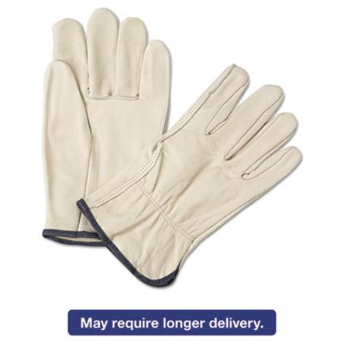 Ors Nasco 4000XL 4000 Series Leather Driver Gloves, White, X-large, 12 Pairs