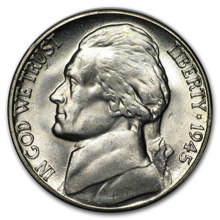 1945-S Silver Wartime Jefferson Nickel BU