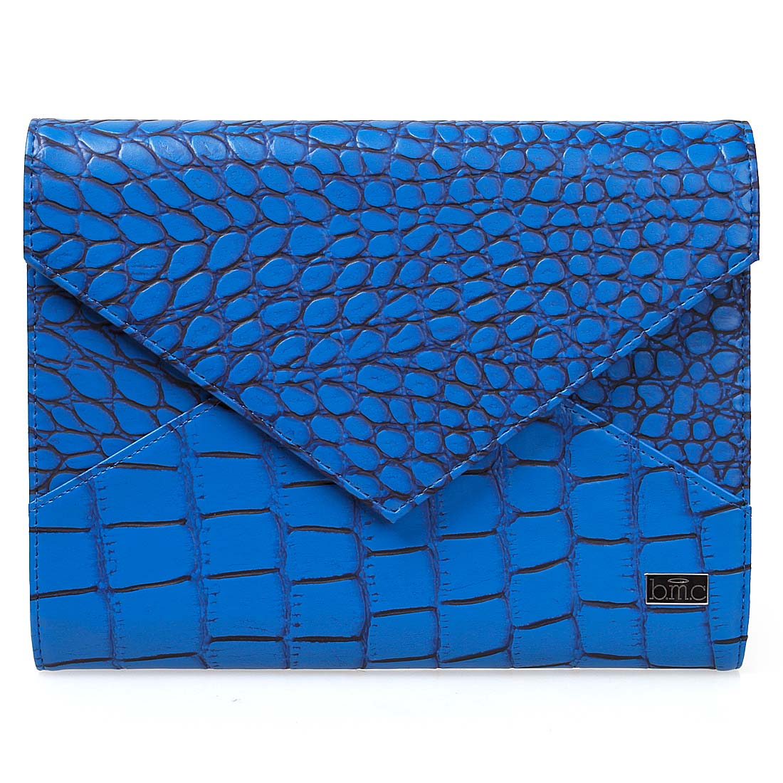 BMC Super Chic Cobalt Blue Envelope Clutch Style XL Nail Stamping Plate Carrier