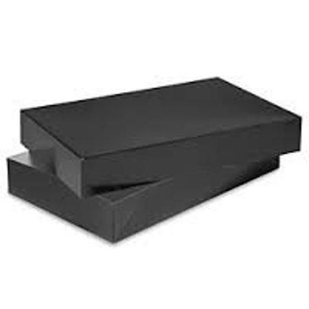 Black Classic Gift Box - Men Shirt Box Women Top Box Gift Boxes Wrap Boxes Apparel Gift Boxes with Lids 5 Pack Black