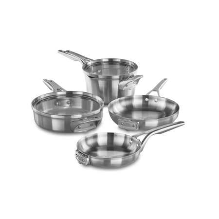 Silver Premier Set (Calphalon Premier Space Saving Stainless Steel 6-Piece Cookware)