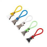 Durable tea towel hanging clips clip on hook loops hand towel hangers 5pcs