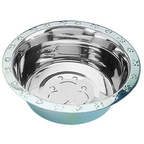 QT Dog, Embossed Rim Standard Stainless Steel Food Bowl, 1 pt + Dogs Bowls en VeoyCompro.net