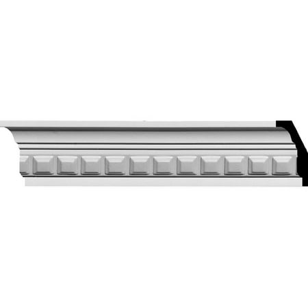 "2 1/4""H x 2""P x 3 1/8""F x 94 1/2""L Blackthorne Crown Moulding"