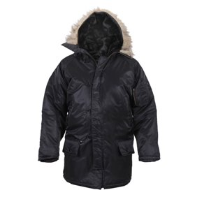 Shop Adidas Mens NEO Padded Parka Coat Black BlackBrown