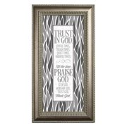 The James Lawrence Company 'Trust In God' Framed Textual Art