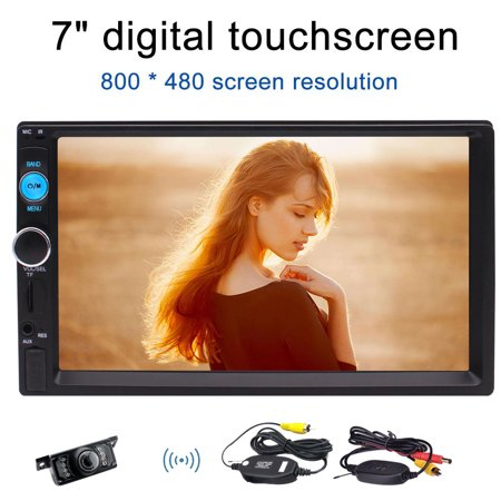 Eincar Bluetooth Double 2 Din Car stereo with Wireless Rear View Camera Support Front USB/TF PORT FM Aux Input 7 inch Universal Digital HD Bluetooth USB/TF FM Aux input Car Radio MP5 Player