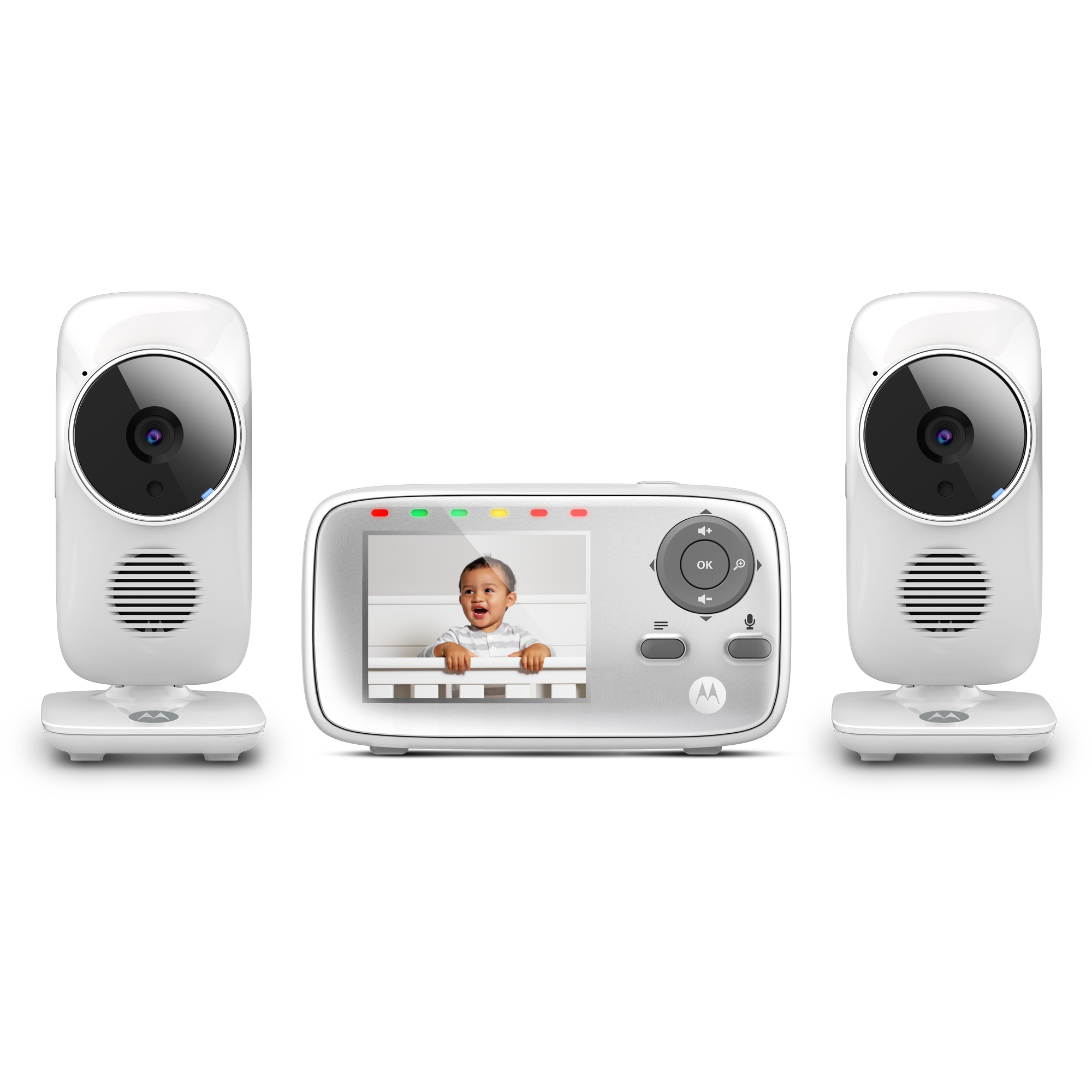 Motorola MB483-2, Video Baby Monitor, 2 Cameras
