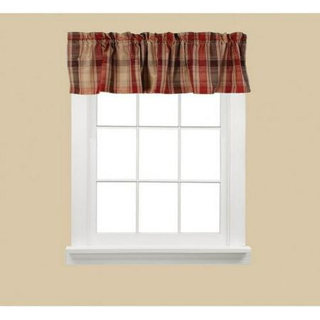 Cooper Red Plaid Kitchen Curtain