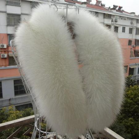 Lady Women Faux Fur Long Collar Scarf Fluffy Winter Shawl Wrap Warm~ Long Collar Scarf