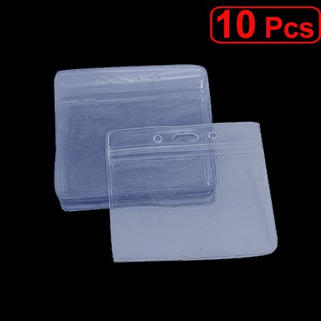 Unique Bargains Water Resistant Staff Name Badge Horizontal Clear Holders 10 Pcs