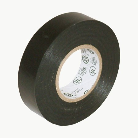 JVCC E-Tape Colored Electrical Tape: 3/4 in. x 66 ft. (Black) (Heat Shrink Electrical Tape)