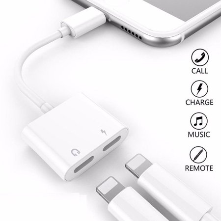 Charging Audio Adapter Charger Splitter Headphone Earphone Jack Cable Converter Line for iPhone 7/7