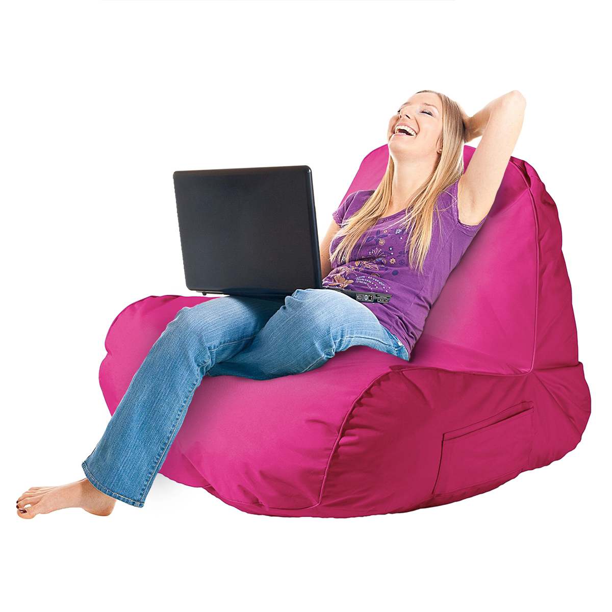 Original Comfy Chair Indoor Outdoor Beanbag Dorm Lounger Seat Video Gaming Adult
