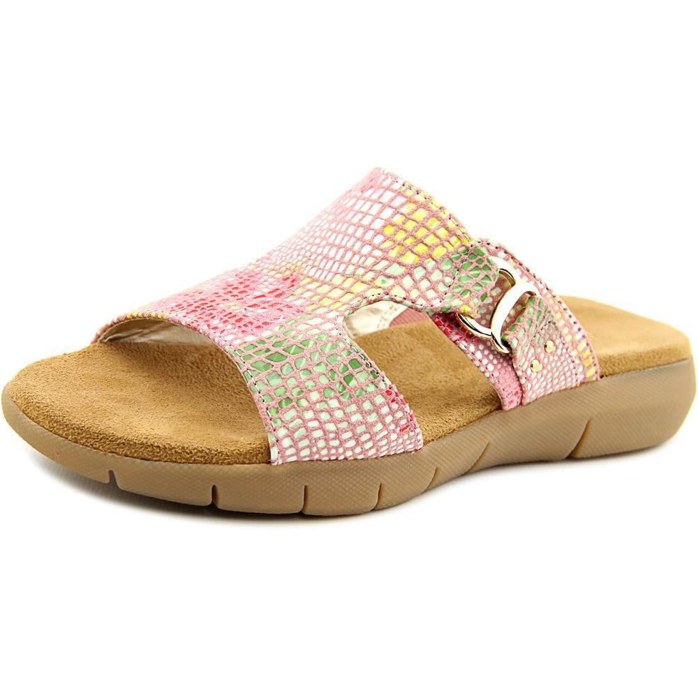 Aerosoles New Wip Women Open Toe Canvas Pink Slides Sandal by Aerosoles
