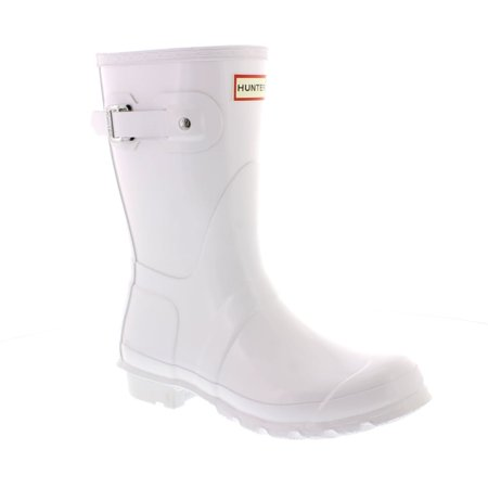 Hunter WFS1000RGL Women's Original Short Gloss Boots All Colors (10 B(M) US Women, White) ()