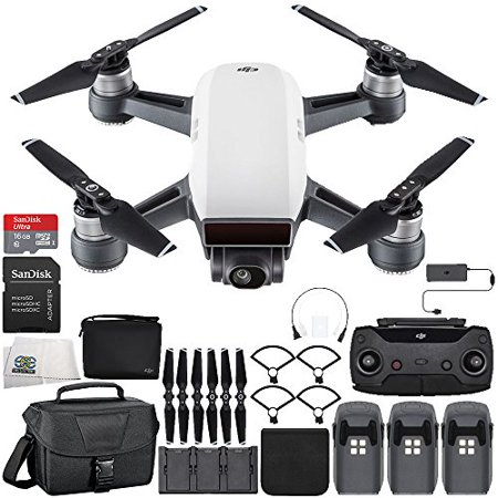 DJI Spark Portable Mini Drone Quadcopter Fly More Combo Ultimate Travel Bundle (Alpine White)
