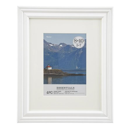 Darice Essentials White Picture Frame: 8 x 10 in, 4