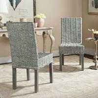 Safavieh Wheatley Rattan Dining Side Chair - Set of 2