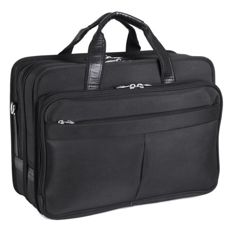 McKlein WALTON, Expandable Laptop Briefcase w/ Removable Sleeve, Tech-Lite Ballistic Nylon, Black (73985)