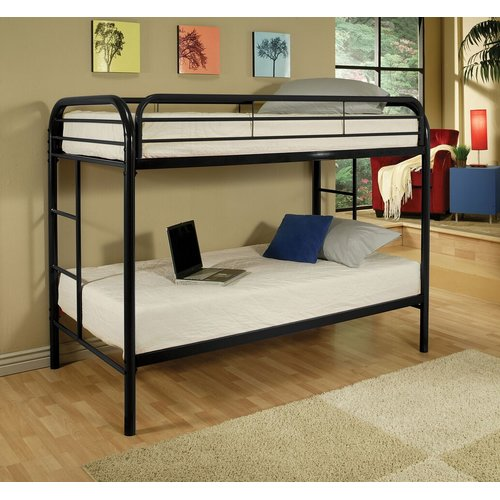 Zoomie Kids Hiers Twin Over Twin Bunk Bed