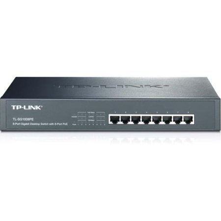 TP-LINK TL-SG1008PE 8-Port Giagbit PoE Switch, 8 POE ports, IEEE 802.3at/af, Max Output 124W - 8 Ports - 8 x POE+ - 10/1