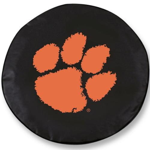 NCAA Tire Cover by Holland Bar Stool - Clemson, Black - 30 L x 10 W