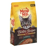 Meow Mix Bistro Recipes Rotisserie Chicken Flavor Dry Cat Food, 17 lb