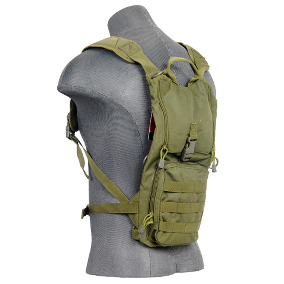 Lancer Tactical Light Weight Hydration Camel Pack in OD For 2.5L Bladders - by