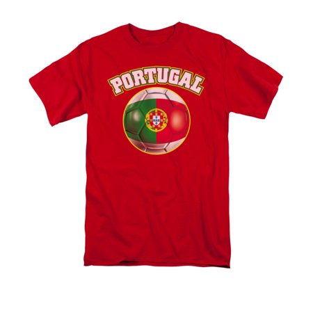 Portugal Pride Soccer Ball Flag Adult T-Shirt