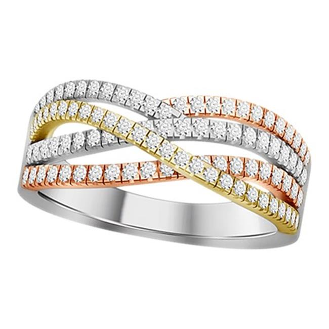 Trilogy 14 Kt White 44 Yellow Rose Gold 0 50 Ct Diamond Ladies Band Ring 44 7 In Walmart Canada