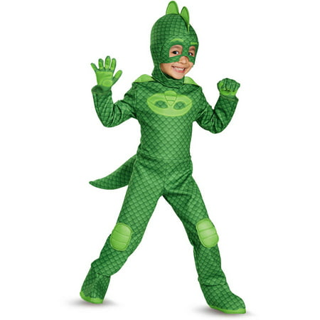Pj masks gekko deluxe child halloween costume Small (2t)](Halloween Costume Ideas No Mask)