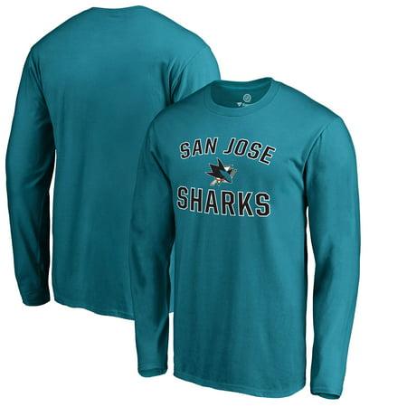 San Jose Sharks Fanatics Branded Victory Arch Long Sleeve T-Shirt -