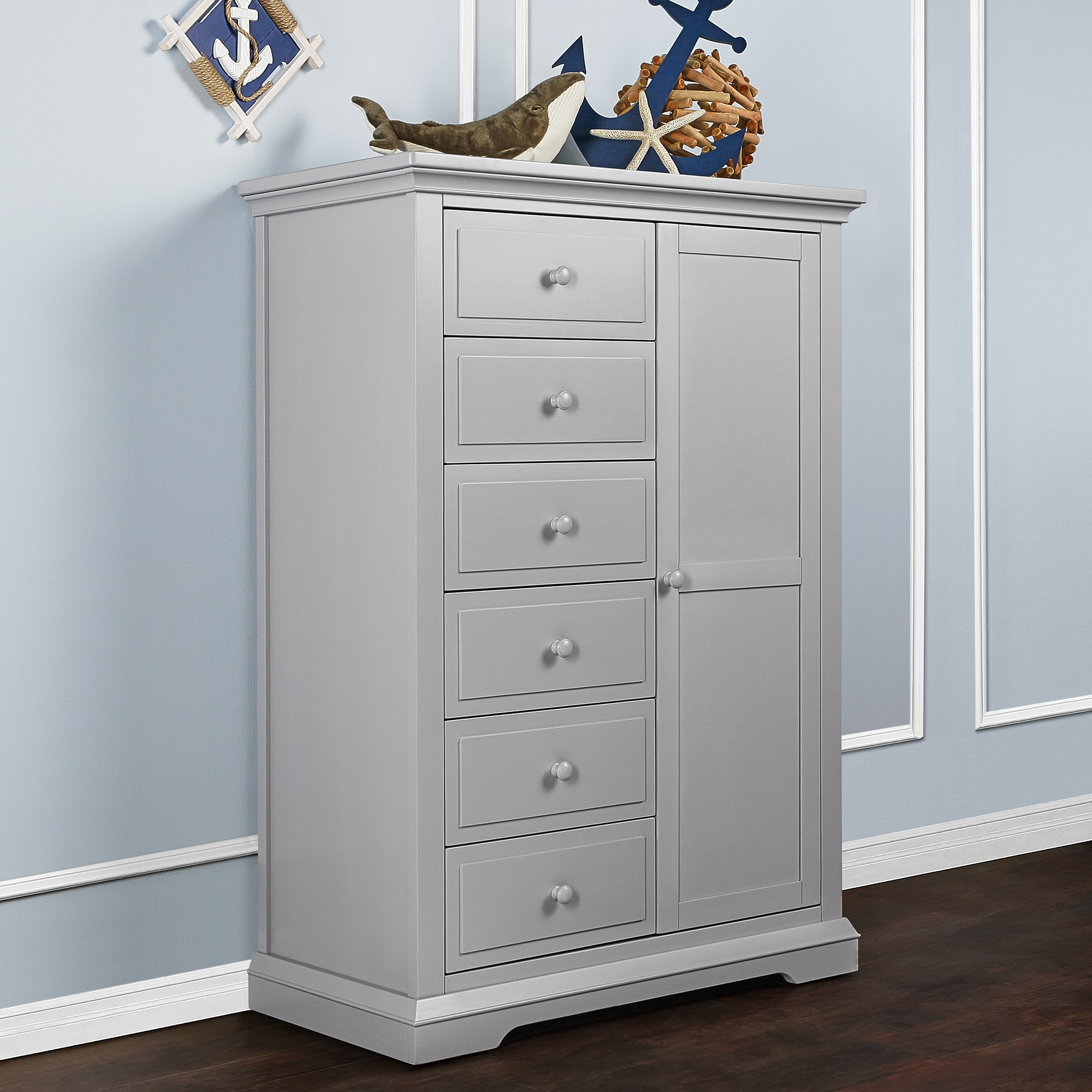 Evolur Parker Chifforobe - Dove Grey