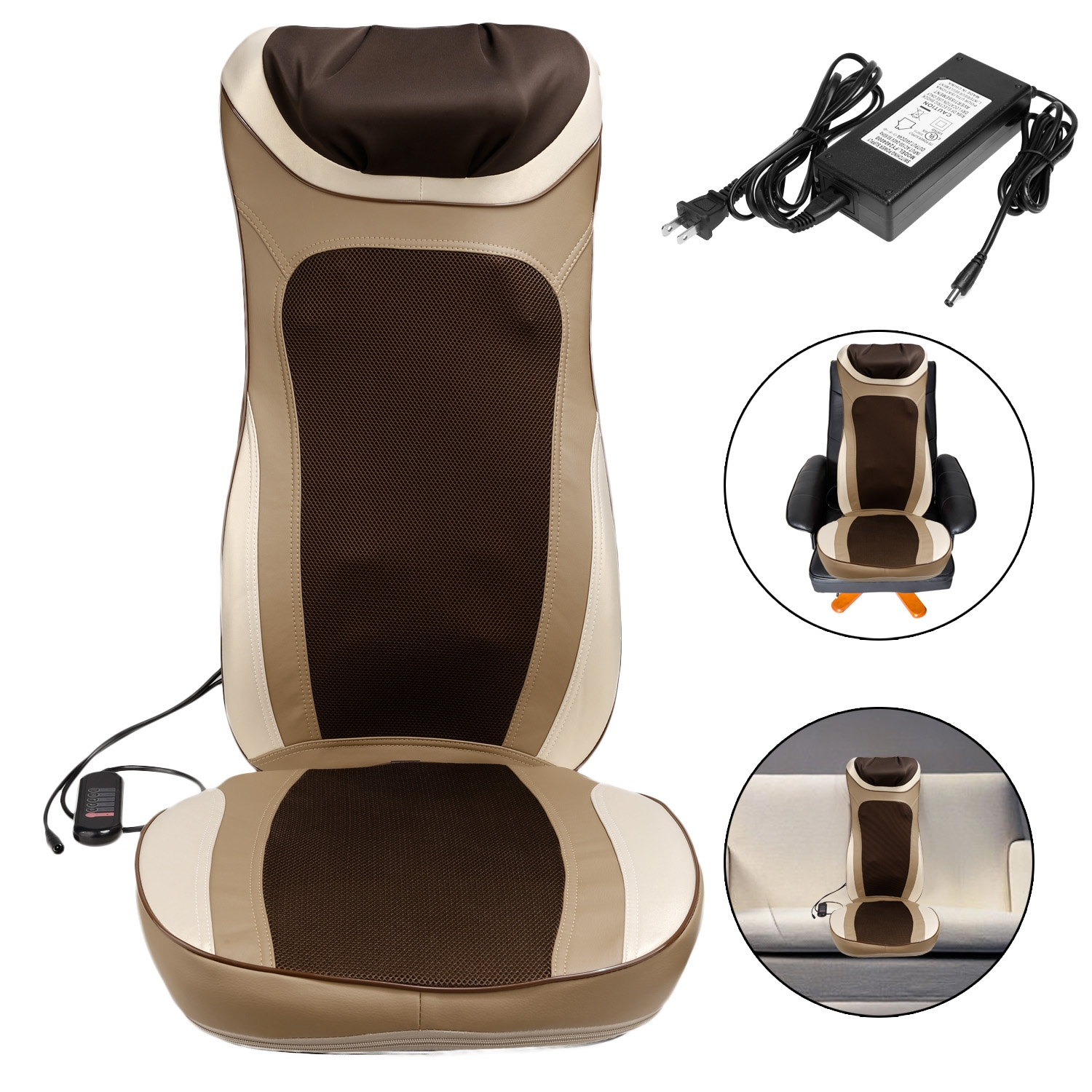 Shiatsu Massage Cushion Mat Seat with Heat For Chair Neck...