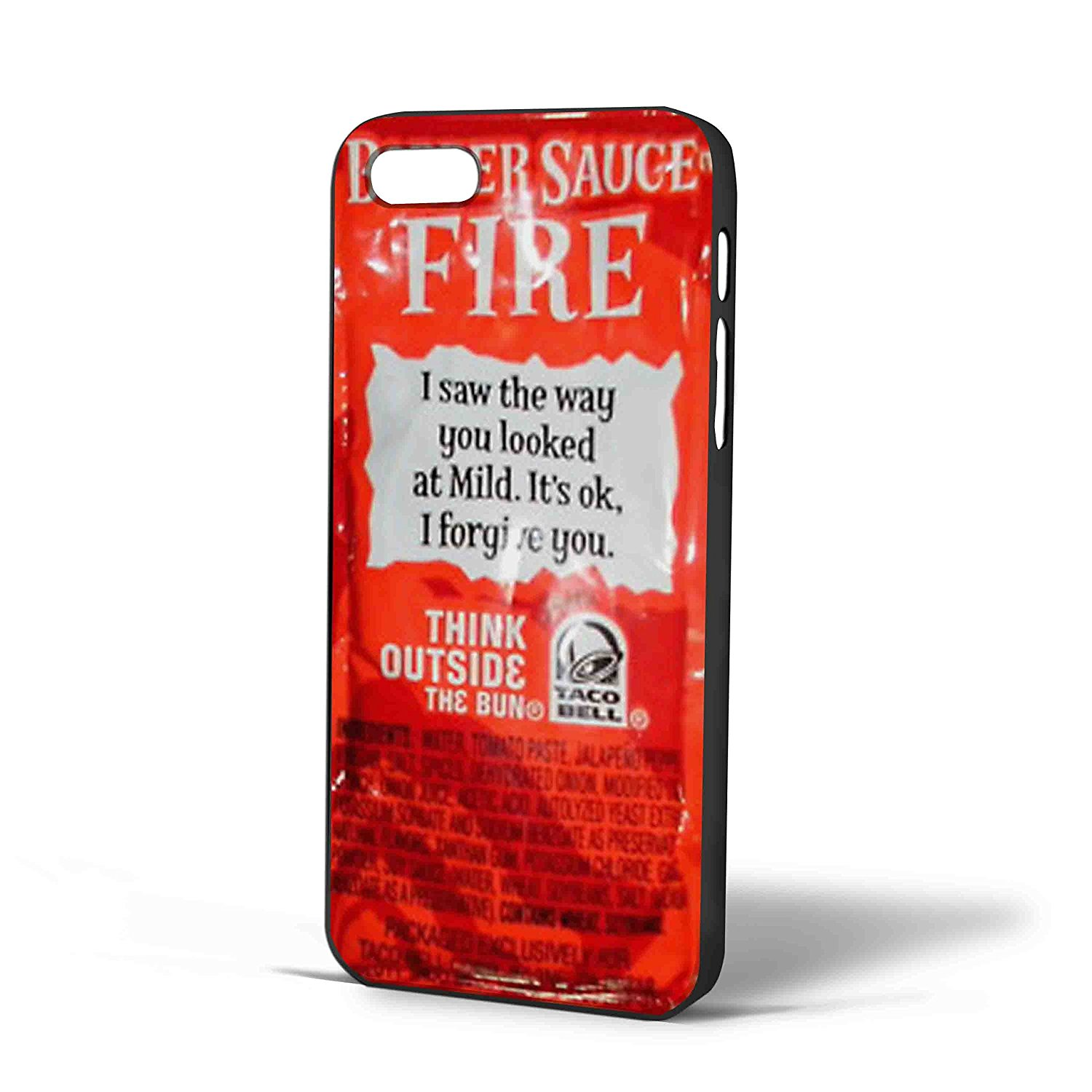 Ganma Taco Bell Sauce Fire Design Case For iPhone Case ( Case For iPhone 5/5s White)