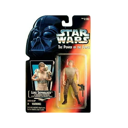 Star Wars: Power of the Force Red Card Luke Skywalker in Dagobah Fatigues with Long Lightsaber Action Figure (Luke Lightsaber)