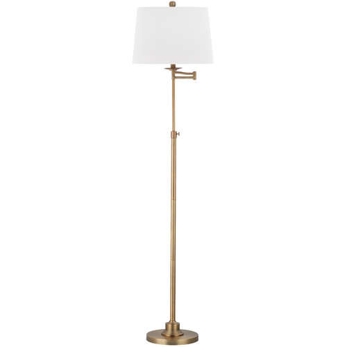 Safavieh Nadia Floor Lamp with CFL Bulb, Gold with Off-White Shade